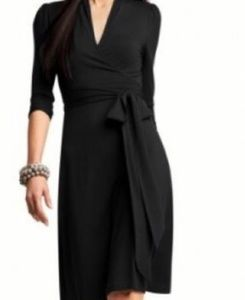 Banana Republic black wrap dress
